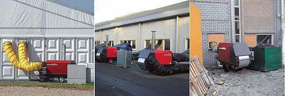 200kw diesel space heater Heating large spaces